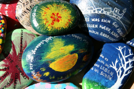 Steine - give away Abiturgodi 2015