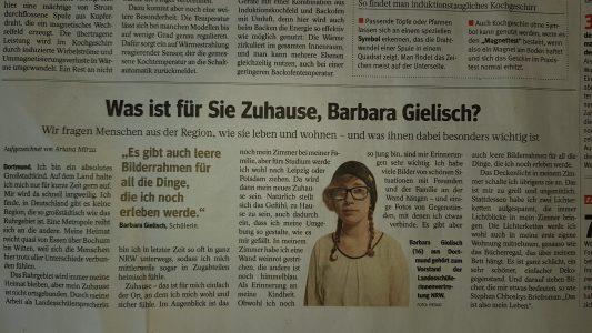 Barbara Gielisch (Q2) erklärt, was für sie Zuhause ist: