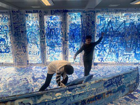 Internationale Klassen in der Yoko-Ono-Ausstellung im Dortmunder U